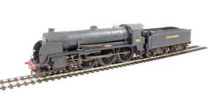 "A Hornby N15 (repainted) Note the 6'7"" driving wheels and spacing"
