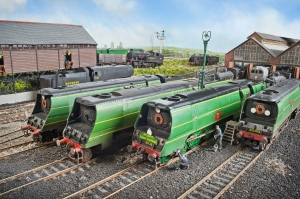 Bullied power at Fisherton Sarum. 21C6 (left) was a Salisbury engine her entire life