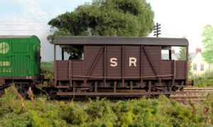 Dia 1559 ex SECR 'Dancehall' Brake Van, yes must properly fix that handrail!