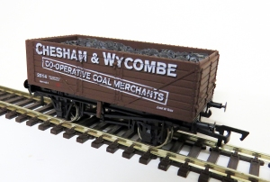 The Limited Edition Chesham and Wycomb e Co-operative Coal Merchants wagon available at Wycrail