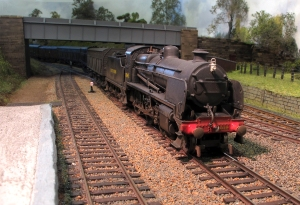 N Class 1848 enters Brent Station on Rob's excellent layout