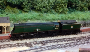 A test run for 35023 on the lovely 2mm finescale layout Tucking Mill (picture courtesy and copyright J Clifford)