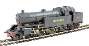 Urie H16 4-6-2T number 519 built from a Jedenco etched brass kit.