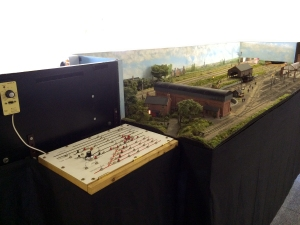 A view of the control panel located in its new position at the 'west' end of the layout