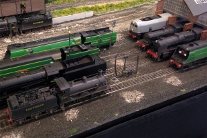 The Bulleid Leader on shed once again attracted much interest