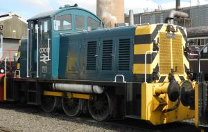 Class 07 number 07012 in its later BR blue guise. Picture courtesy of Heljan