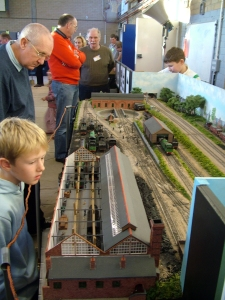 A view of the layout at Wycail 2006, I wonder where the young onlooker is now?