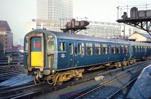 4-TC Unit number 416 in BR Blue livery with small yellow warning panels and etched BR logos as per model 32-640Z