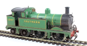 Although in a spurious malachite green livery, this is my very early attempt at producing an H Class tank using an much cut about Wrenn R 0-6-0T as the starting point, but is one of the 15 with the flat sided bunker