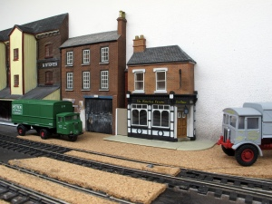 The 'Waterloo Tavern' has been added which is a Bachmann Scenecraft low relief building