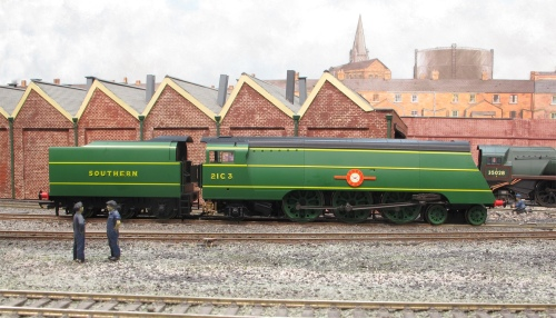 21C3 rests on shed on Hinton Parva