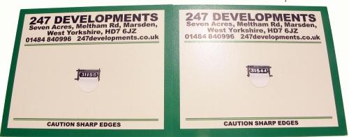 H Class smokebox door number plates from 247 developments