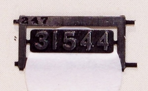 A cruel enlargement of the H class smokebox door number plate