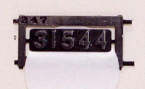 A cruel enlargement of the H class smokebox door number plate