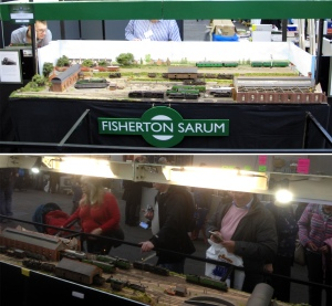 A split image showing lighting on Fisherton Sarum from the public's view (top) and operator's view (bottom)
